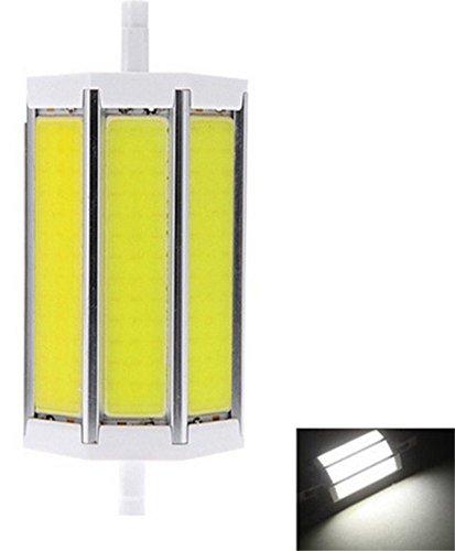 JKLcom R7S COB LED Bulbs R7S 118mm 15W Not Dimmable COB Light Floodlight Double Ended j Type Tungsten Halogen Bulb Replacement (Daylight White) by JKLcom (Image #1)