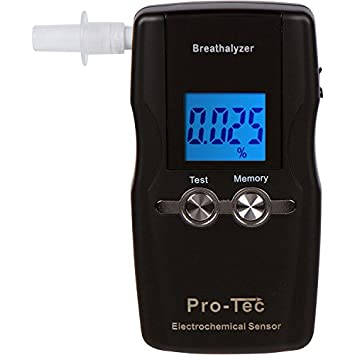 Pro-Tec X2000 breathalyzer | Portable Professional Grade Blood Alcohol  screening Device | DOT