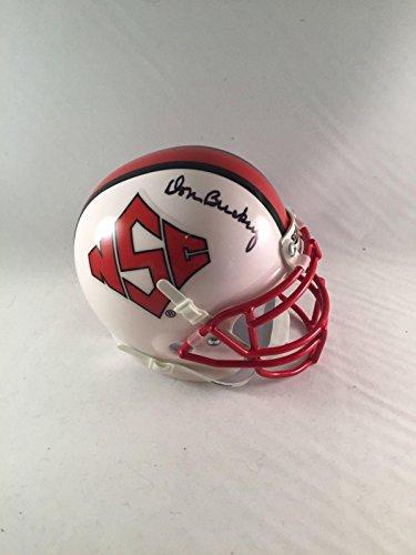Don Buckey Autographed Mini Helmet - Dave North Carolina Wol