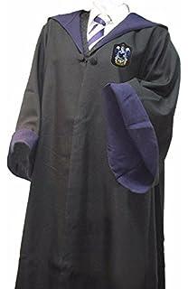 costume noir sorcier cape et cravate serdaigle