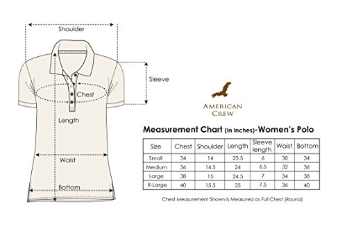 Buy AMERICAN CREW Women's Polo Collar Solid with Applique Light ...