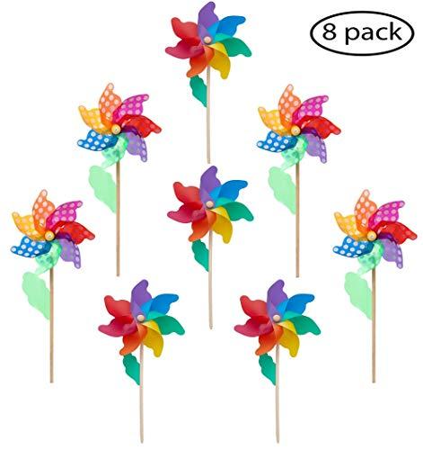 (Wooden Stick Pinwheels(Flower Ø 9.5