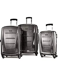 Winfield 2 Expandable Hardside Luggage Set with Spinner Wheels, 3-Piece (20/24/28), Charcoal