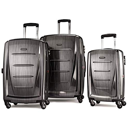 Samsonite Winfield 2 Expandable Hardside Luggage Set with Spinner Wheels, 3-Piece (20/24/28), Charcoal (Best 2 Piece Carry On Luggage Sets)