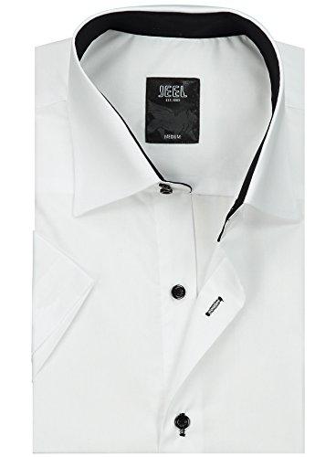 Slim Jeel Courtes Manches À 105 Les Et Shirt Pour D'affaires De Facile Repasser Mariage Hommes Fit Blanc Loisirs Men's ArHwEqA