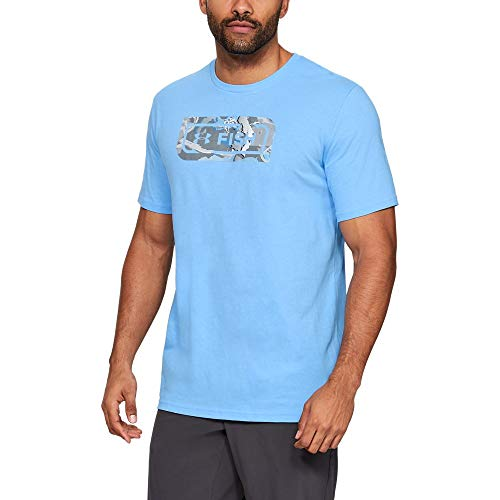 Under Armour Outerwear Men's UA Fish Icon Novelty T, Carolina Blue (475)/Elemental, ()