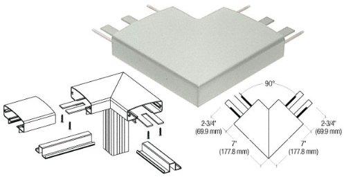 CRL Agate Gray 400 Series Top Cap 90 Deg. Corner - 4TRHAGY