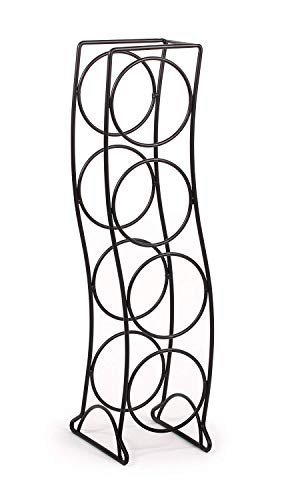 Spectrum Diversified Curve Wine Rack, 4 Bottle, Black