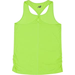 New Balance Big Girls' Athletic Tank Tops, Lime Glo, 16