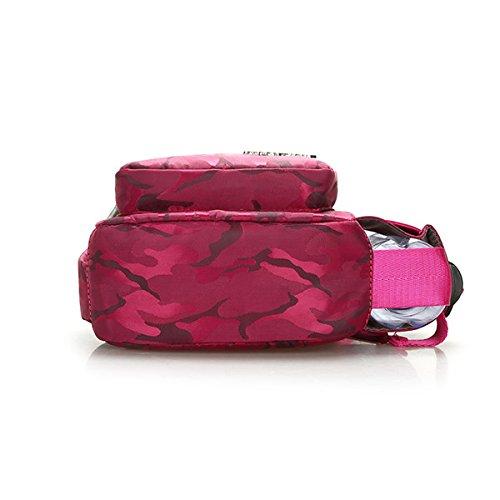 De Sacs Léger Camouflage Sacs Femmes en Sacs À Randonnée Bandoulière TENGGO Imperméable Violet Plein Rouge Air Sports Nylon Rose Poitrine OqvAgaa0n