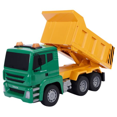 Goplus 1/18 5CH Remote Control RC Construction Dump Truck Kids Large Toy New by Unbranded