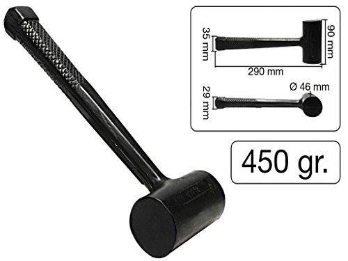 rückschlagfreier Hammer aus Gummi 450 gr