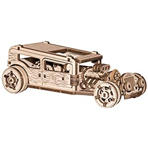 Wooden City Puzzle 3d In Legno Hot Rod