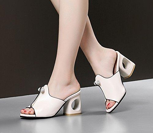 Loisir Mules Chaussures Riz Femmes MissSaSa Blanc tpxq5S4tw