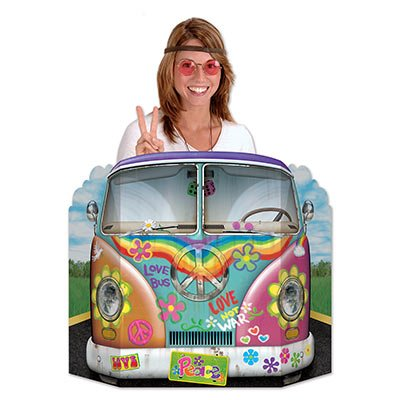 Beistle Hippie Bus Photo Property, 3-Feet 10-Inch by 25-Inch, Multicolor ()