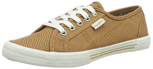 Pepe Jeans London Damen Aberlady Python Sneaker Beige (nut Brown 877)
