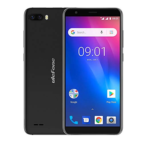 Gallity Ulefone S1 4G Smartphone Pro Mobile Phone 5.5 inch 18:9 MTK6739 Quad Core 1GB RAM 16GB ROM 13MP+5MP Face Unlock Android 8.1 (Black) by Gallity (Image #1)