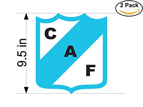 fan products of Club Atletico Ferrocarril de Concordia Argentina Soccer Football Club FC 2 Stickers Car Bumper Window Sticker Decal Huge 9.5 inches
