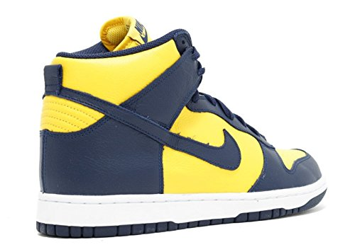 Nike Dunk Rétro Qs Hommes Haut Top Formateurs 850477 Baskets Chaussures Varsity Maize / Midnight Navy