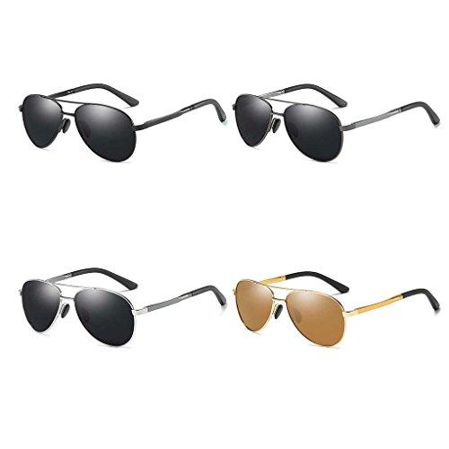 Eyewear 4 Manera Color Sol Marco Gafas la fish luz los Sol Metal de Coolsir de Hombres Boy Doble de de Gafas vidrios de los polarizada RqnAASZWPx