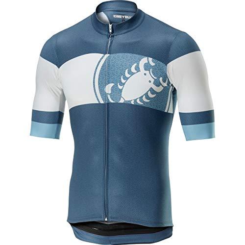 Castelli Ruota Full-Zip Jersey - Men's Light Steel Blue, - Jersey Steel Mesh