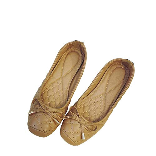 work slip flat shallow non shoes shoes 38 shoes FLYRCX soft fashion ladies shoes office sole Casual EU q0OxwnHztB