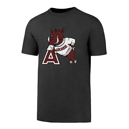 (NCAA Arkansas Razorbacks Men's OTS Rival Tee, Charcoal, Large)
