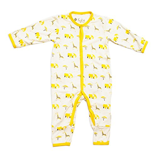 Safari Printed - Kyte BABY Rompers - Baby Footless Coveralls Made of Soft Organic Bamboo Material - 0-24 Months - Printed Color (3-6 Months, Safari)