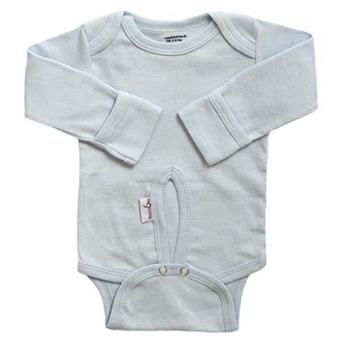 - Assessables Umbilical Newborn Bodysuit for Babys Cord 100% Cotton (Gray)