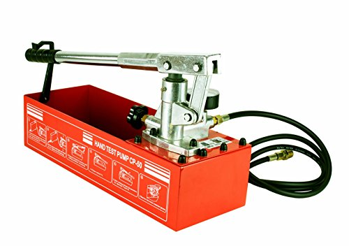 Hydrostatic Test Water Pump - Steel Dragon Tools CP-50 Pressure Test Pump 726 PSI & 2.5 Gallon Tank 1/4