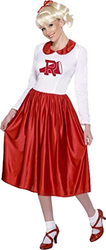 Ladies Fancy Party Dress Rydell High Film Cheerleader Sandy Costume One Size