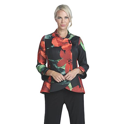 IC Collection Floral Print Jacket In Multi - 7971J (Medium) by IC Collection