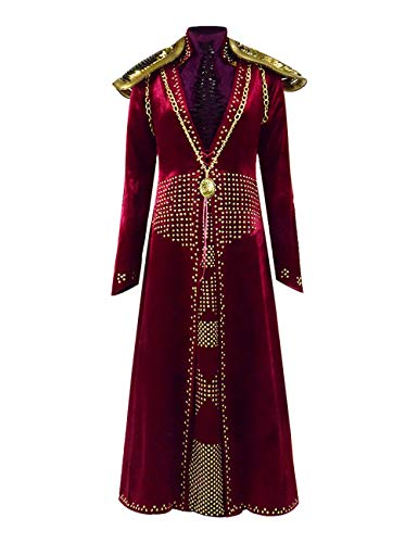 Cersei Costume Halloween Cosplay Party Show Queen Long Dress for Women (Small, Red) -