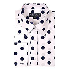 Men's 100% Cotton Big Polka-Dot Dress Shirt