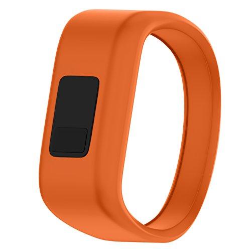 ANCOOL Compatible Garmin Vivofit JR Bands Replacement Silicone Sports Wristbands Compatible Garmin Vivofit JR/Vivofit 3(NOT Including Tracker) - Small Orange