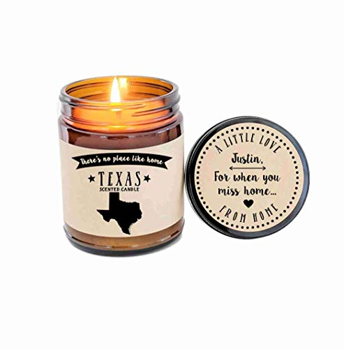 Texas Scented Candle State Candle Homesick Gift No Place Like Home Thinking of You Holiday Gift