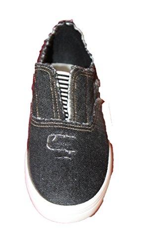 ml shoes Tennis Baskets en Toile Style Déchirées-Noire-Femme xvFwwHN9dj