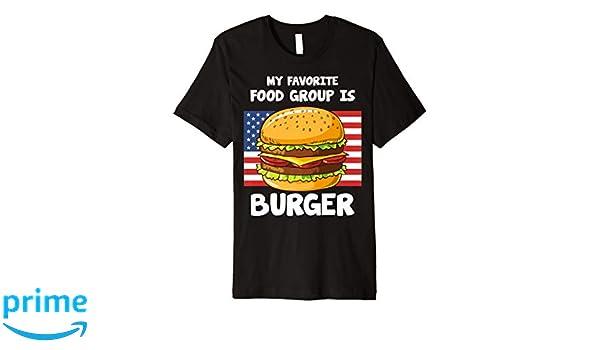 Amazon com: My Favorite Food Group Is Burger American Flag