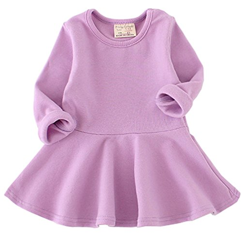 Purple Cotton Dress - 5