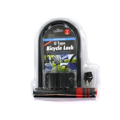 U-Type Bicycle Lock With Two Keys - Pack of 12 by bulk buys (Image #1)
