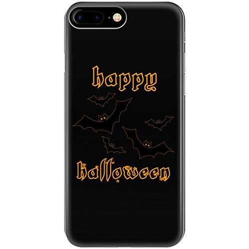 Happy Halloween Bats Outline Gold - Phone Case Fits Iphone 6, 6s, 7, -