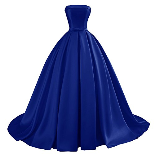 Bridal Lace Ball Bow Women's Bess Dress Prom Long Gowns Formal Blue up Evening Royal dnqSxExTg