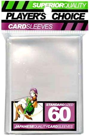 Player's Choice Clear Sleeves (Pack of 60) Standard Size Deck Protectors - (Players Choice Sleeves)