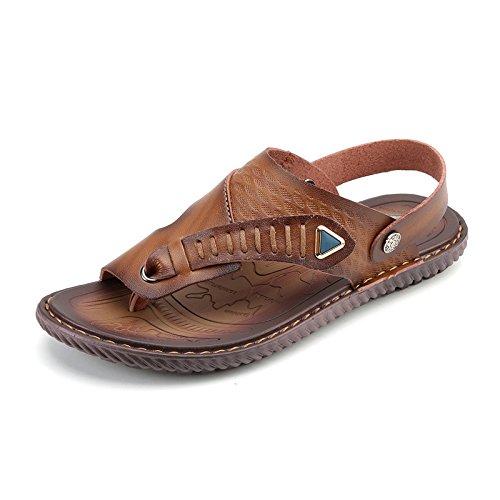 Sommer Männer Sandalen Männer Freizeit Rutschfeste Verschleiß-widerstehende Sandalen Strand Amphibious Tide Schuhe, Braun, UK = 8, EU = 42