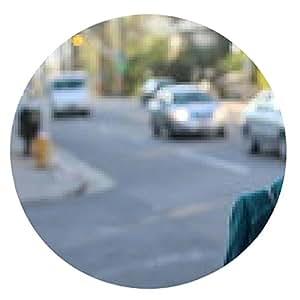 alfombrilla de ratón Retrato de una señora caucásica fuera - ronda - 20cm