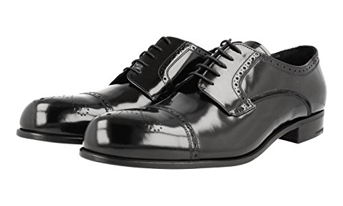 Prada Mens 2EE205 P39 F0002 Full Brogue Leather Business Shoes gC3Cz4PTp