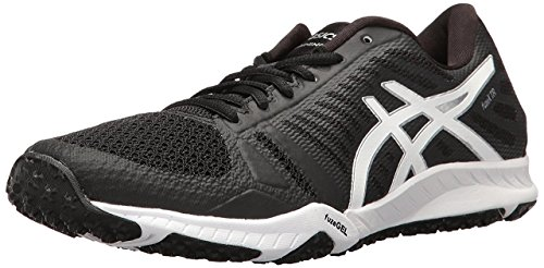 ASICS Women's Fuzex TR Cross-Trainer Shoe, Black/White/Silver, 6 M US