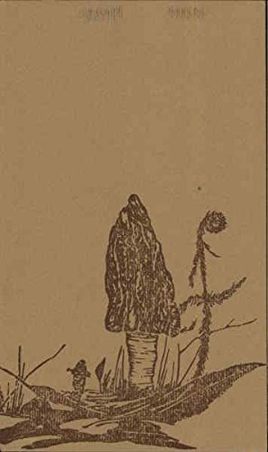 Block Print of Mushroom Art Original Vintage Postcard from CardCow Vintage Postcards