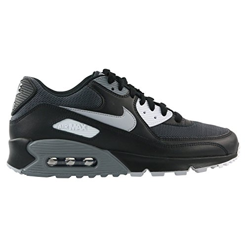 premium selection 388c1 d1910 Galleon - NIKE Mens Air Max 90 Essential Running Shoes Black Wolf Grey Dark  Grey AJ1285-003 Size 10.5