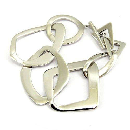 Altesse [L5345] - Bracelet argent 'Calypso' argenté